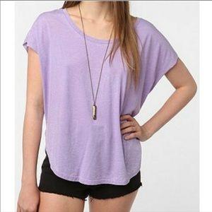 Lavender Burnout T Shirt